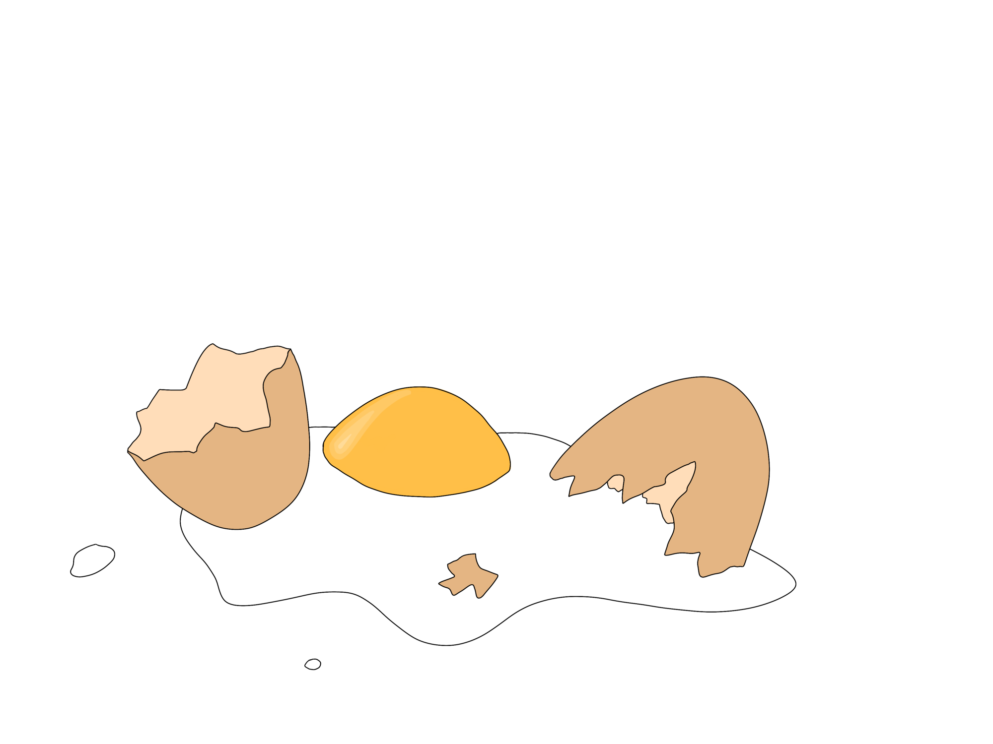 broken egg illustration
