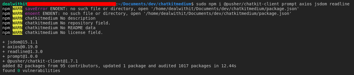 Build a command line chat application using nodejs and pusher chatkit
