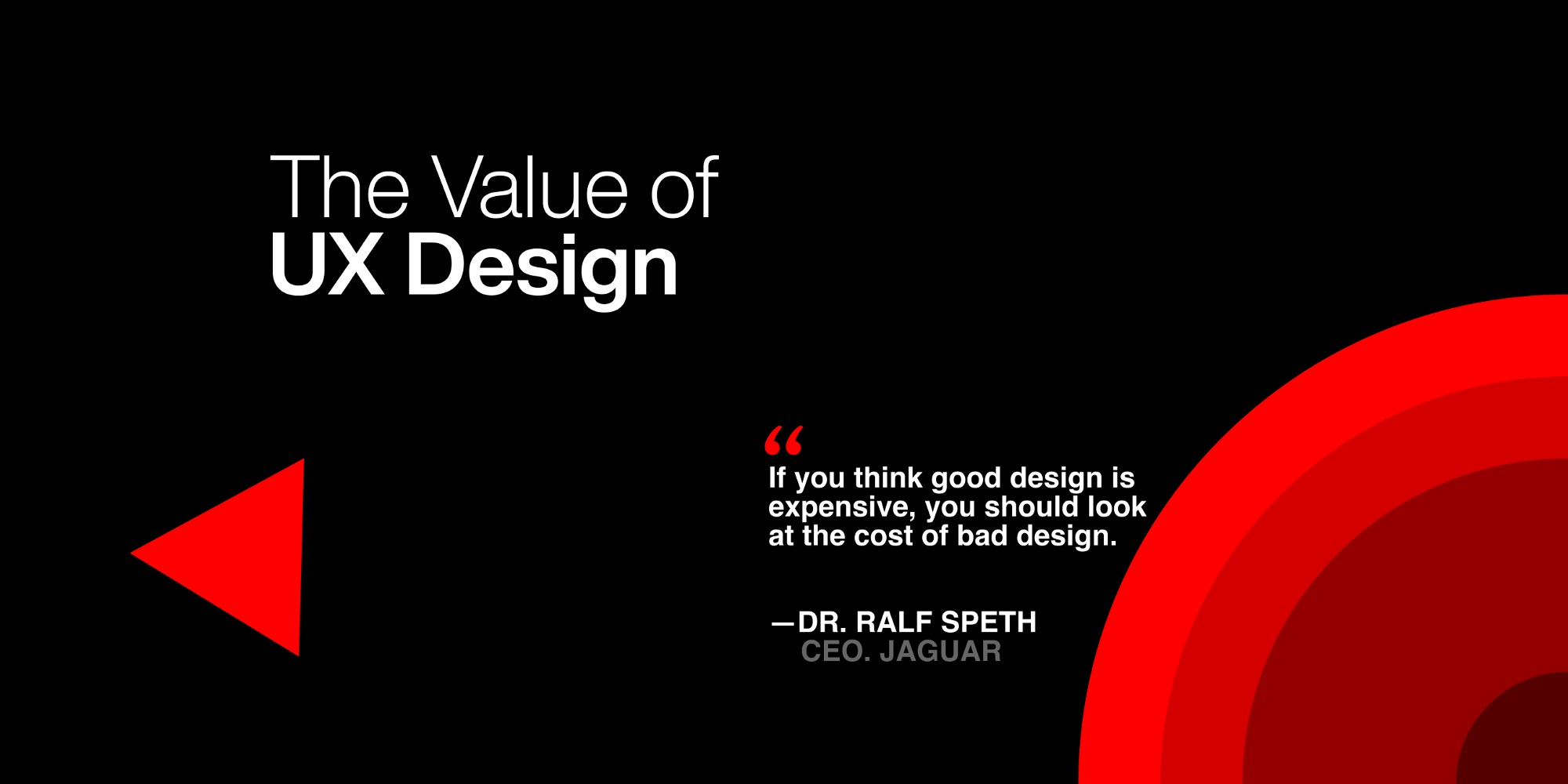 Cover Image with a quote — If you think good design is expensive, you should look at the cost of bad design. by RALF SPETH