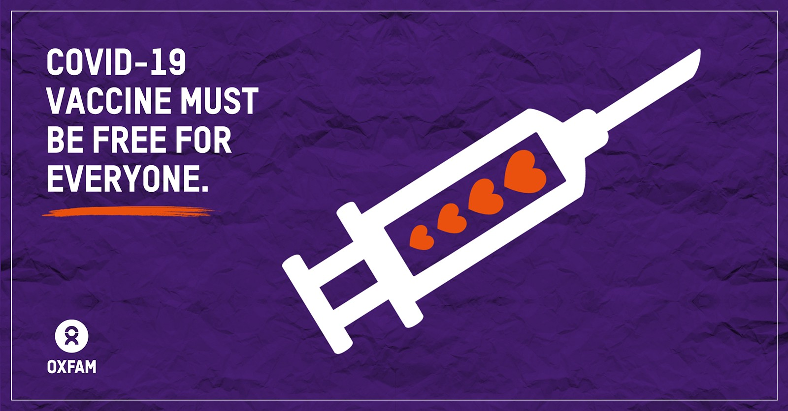 Graphic: COVID-19 vaccine must be free for all, everywhere.