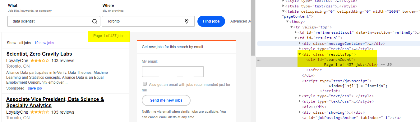 Scraping Job Posting Data from Indeed using Selenium and BeautifulSoup