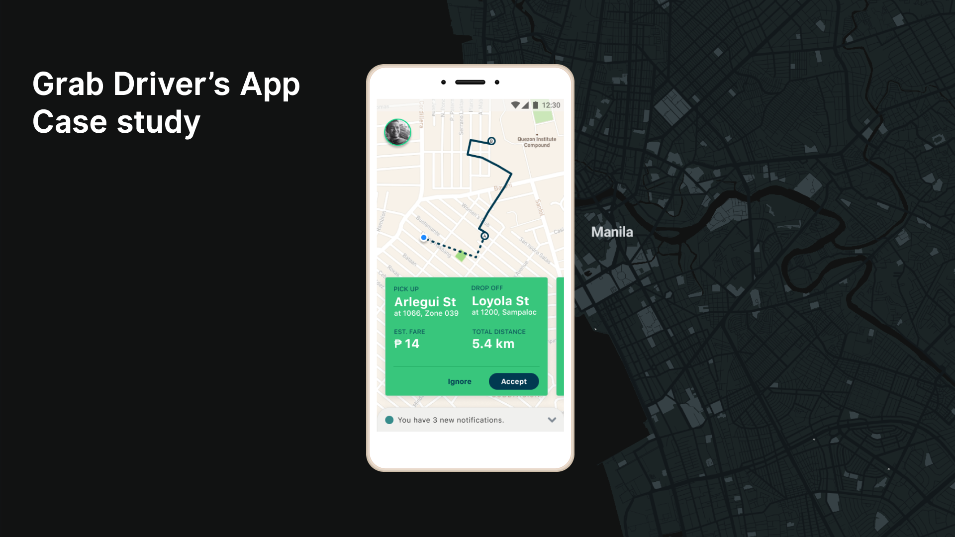 Driving Map App on