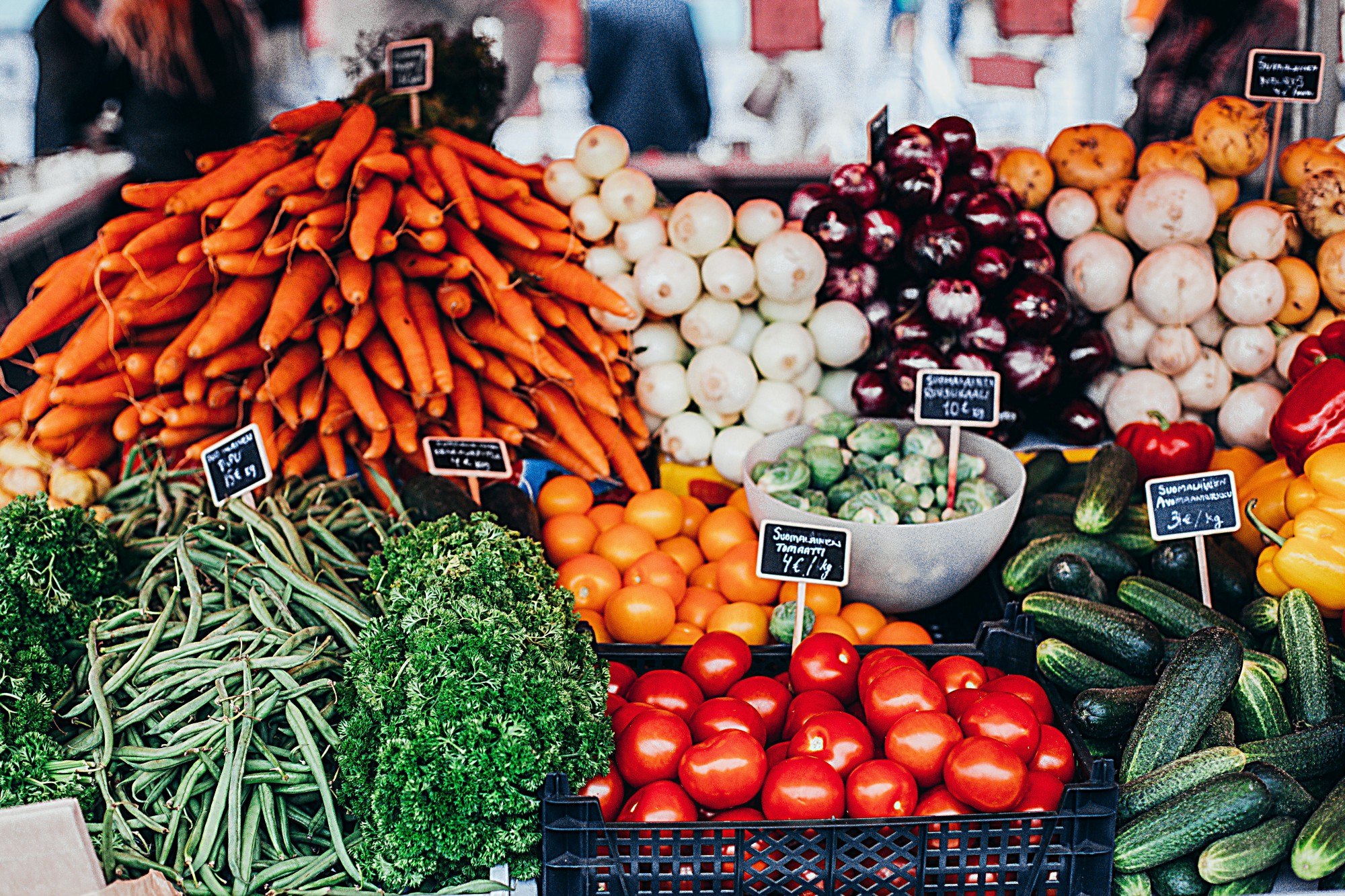 Fruits and vegetables at the supermarket
