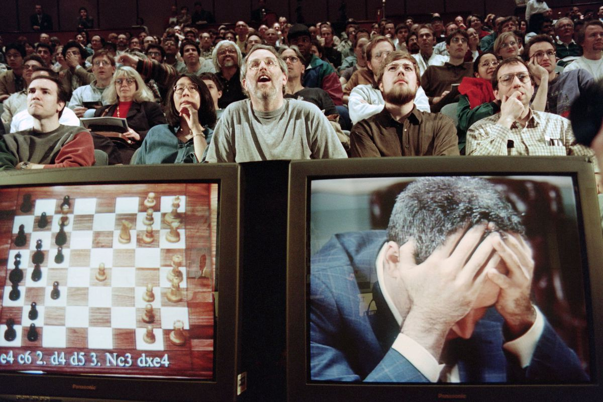 Kasparov anguishes over the looming prospect of defeat to Deep Blue (1997)