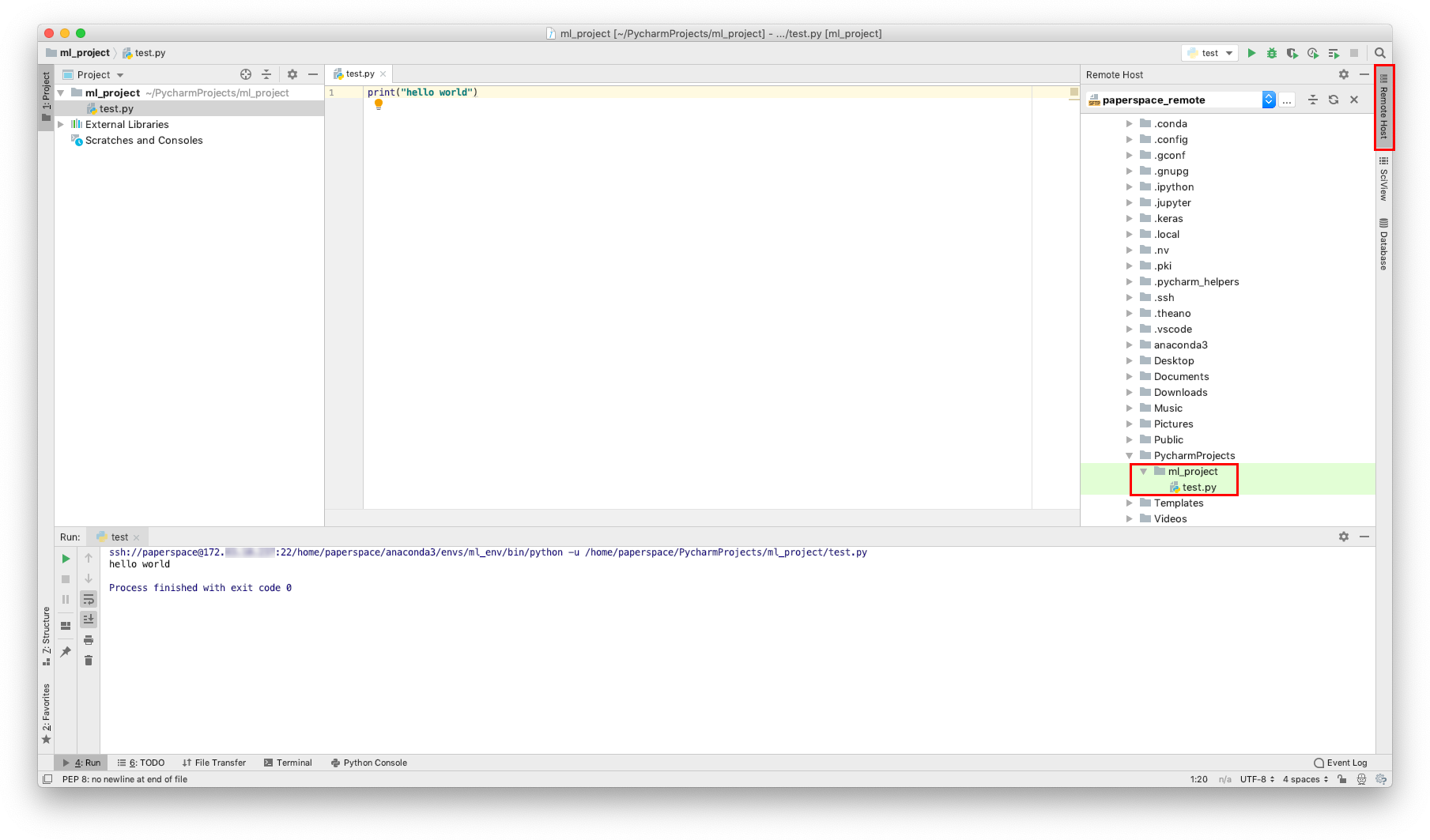 ML Cloud Computing Part 2: Connecting PyCharm to Paperspace