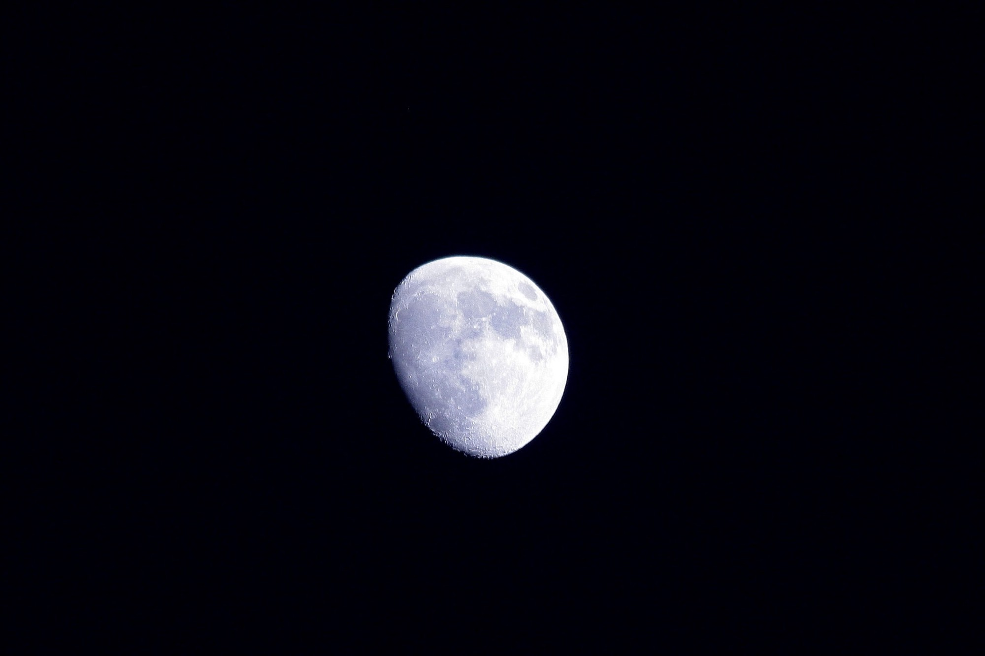 Moon against the blackness of space