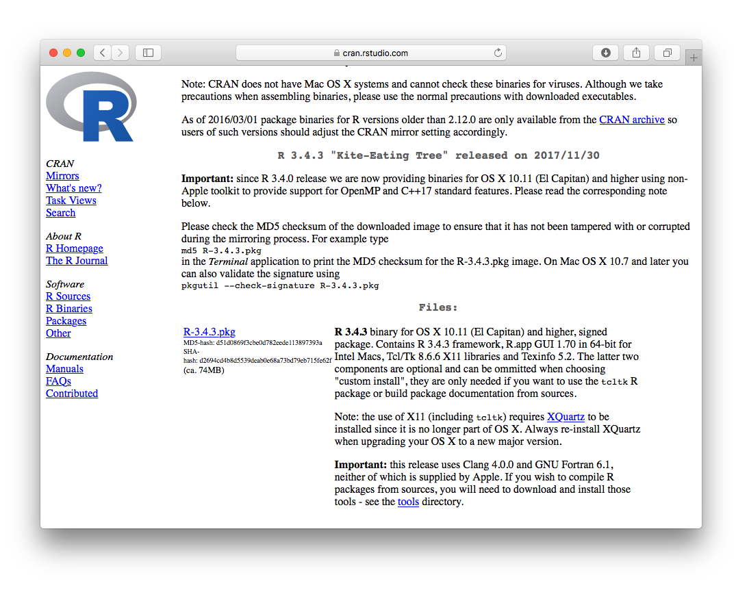 Create PDF reports using R, R Markdown, LaTeX and knitr (on macOS