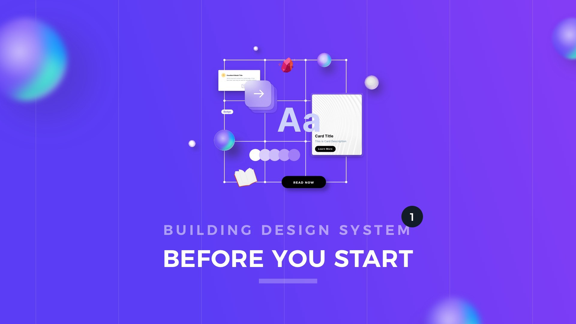 Abstract image of design system