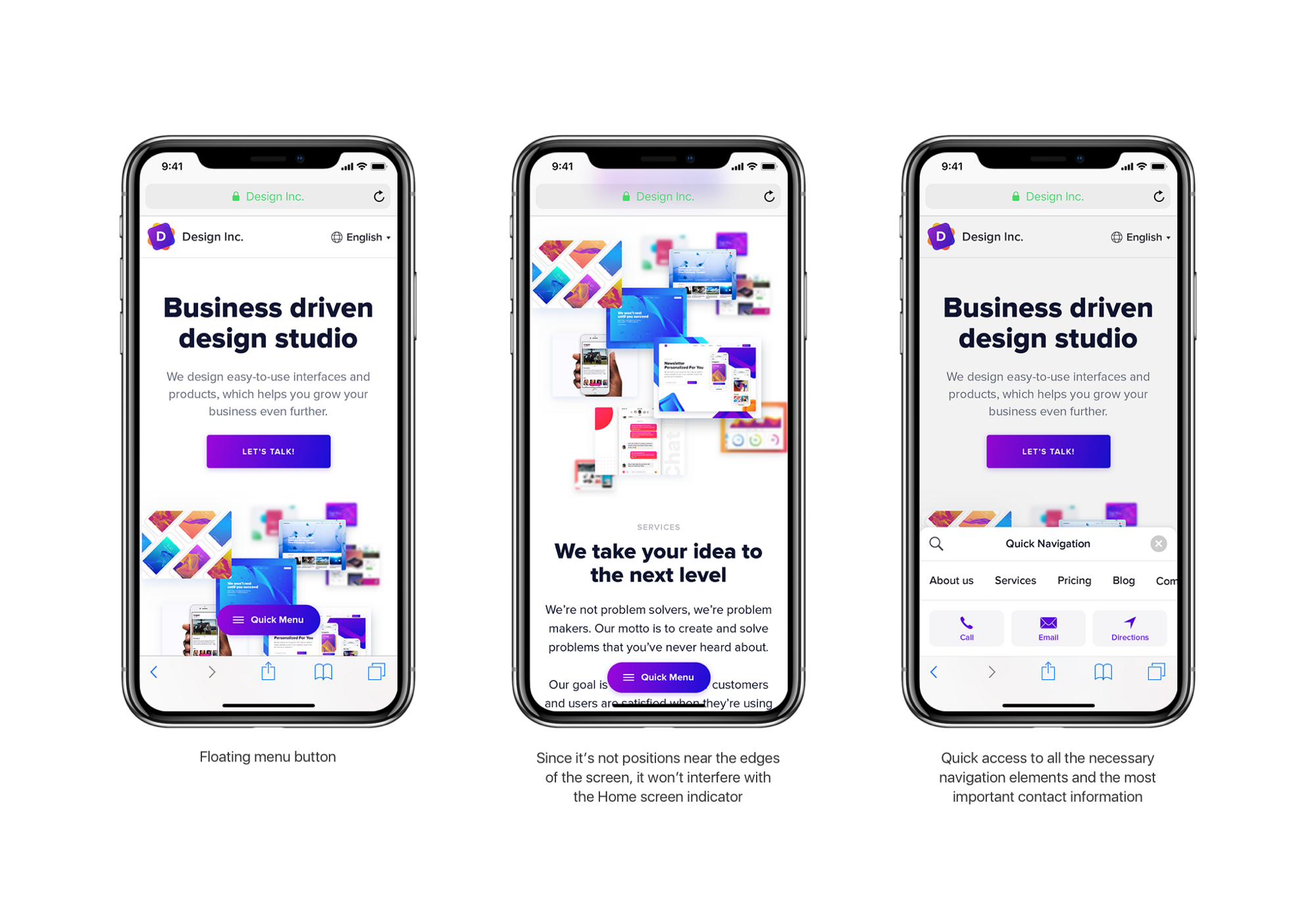 iPhone X Web Navigation Concept - Muzli - Design Inspiration