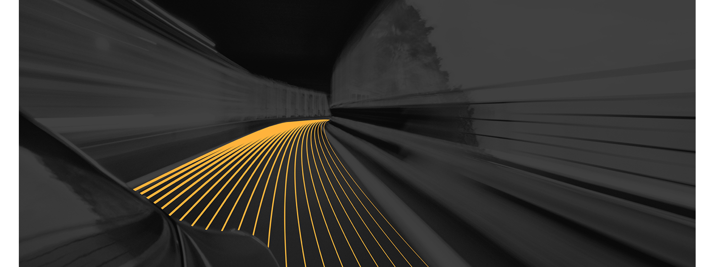 Vehicle approaching a blind turn autonomous lines suggest car anticipates whats ahead