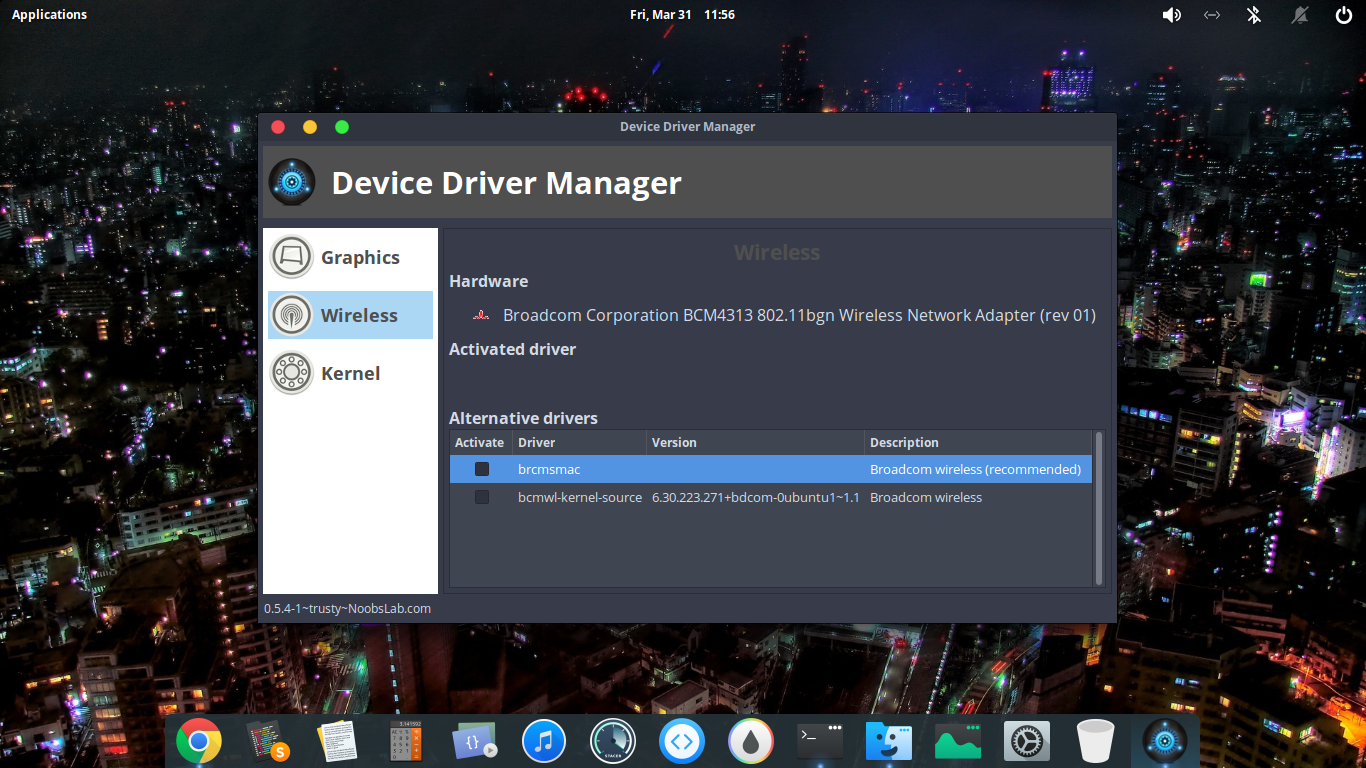 Using Mint Drivers Utility in elementary OS to fix driver issues