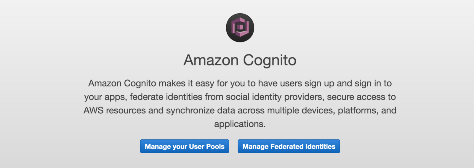 Developing Authentication with Cognito User Pool and JavaScript Apps