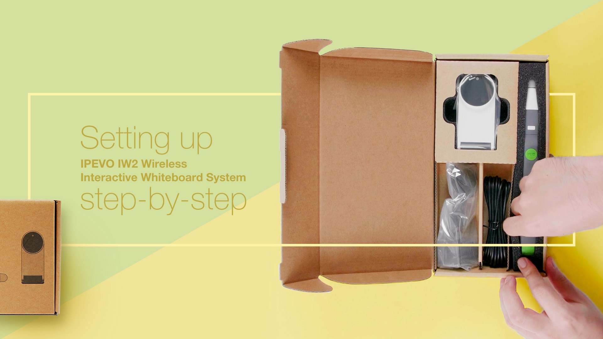 Setting up IPEVO IW2 Wireless Interactive Whiteboard System step-by-step