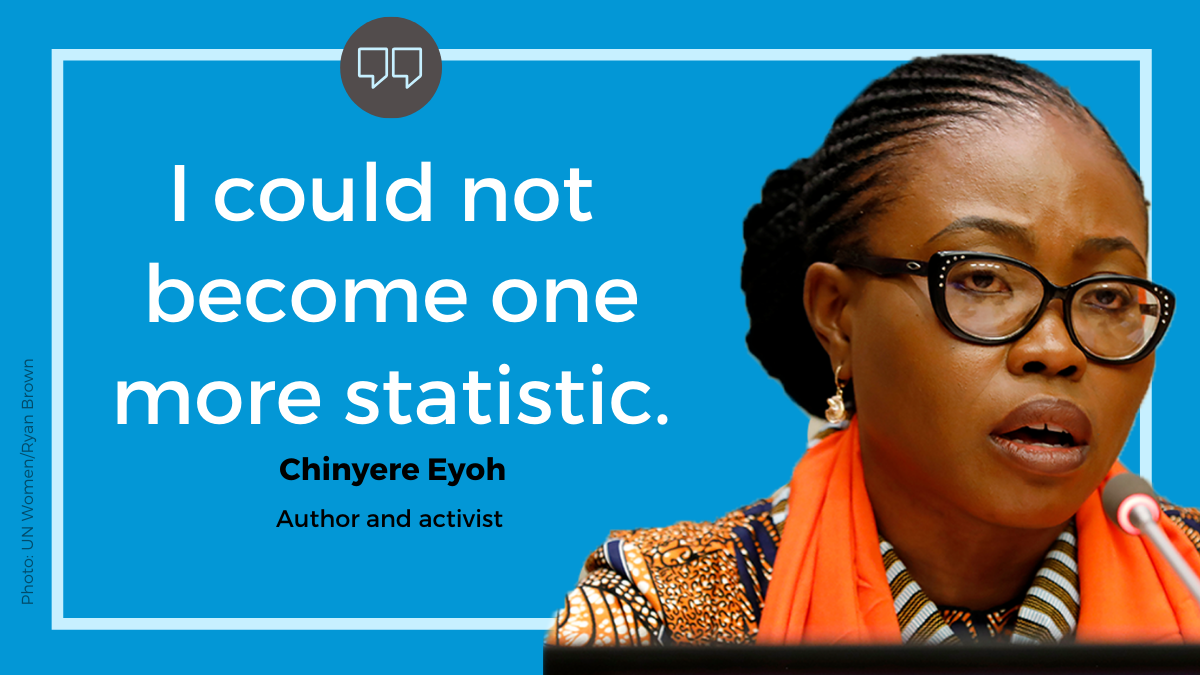 """"""" I could not become one more statistic of a woman who gave up because of this."""""""