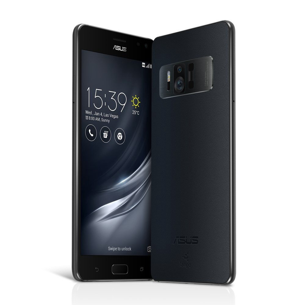 Two Asus Zenfone AR handsets, with the lidar sensor visible next to the back camera.
