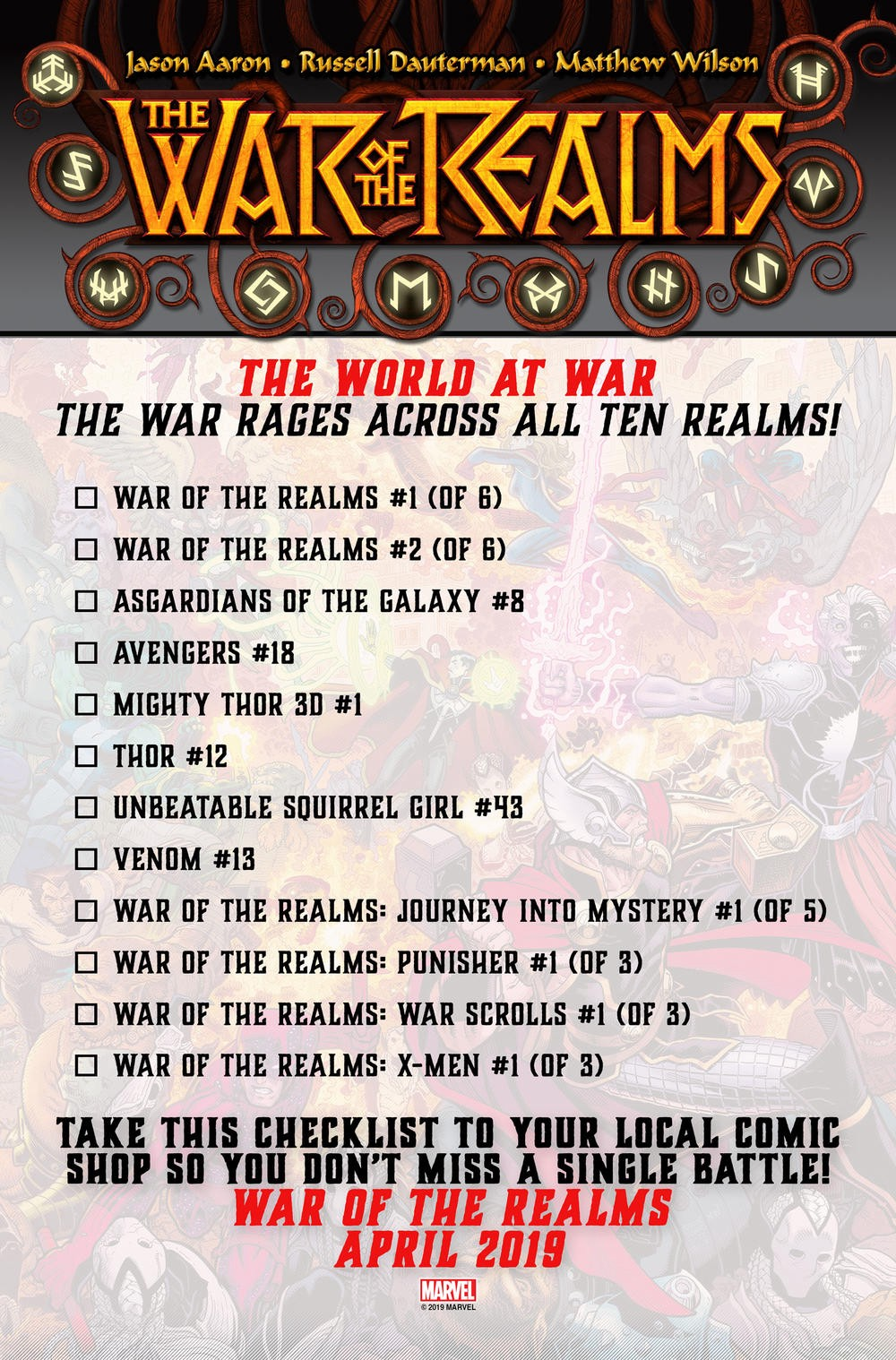 War of the Realms — Reading Order - Justin Beeson - Medium