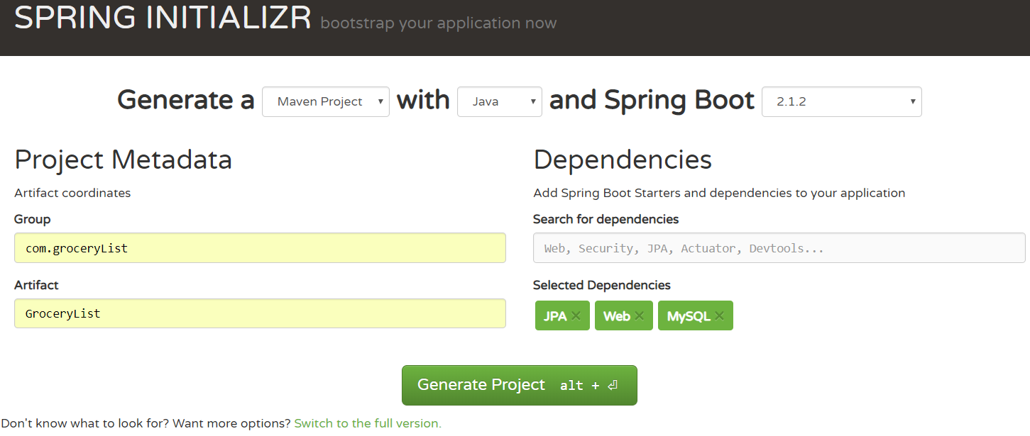 Simple Rest API using Spring Boot, React and MySQL  Part I: The Back-End