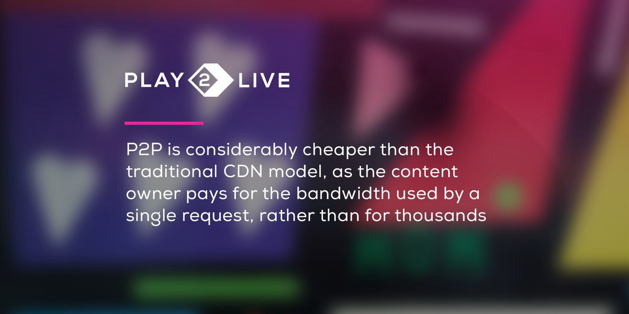 Play2Live shows how to use P2P CDN for superior streaming results