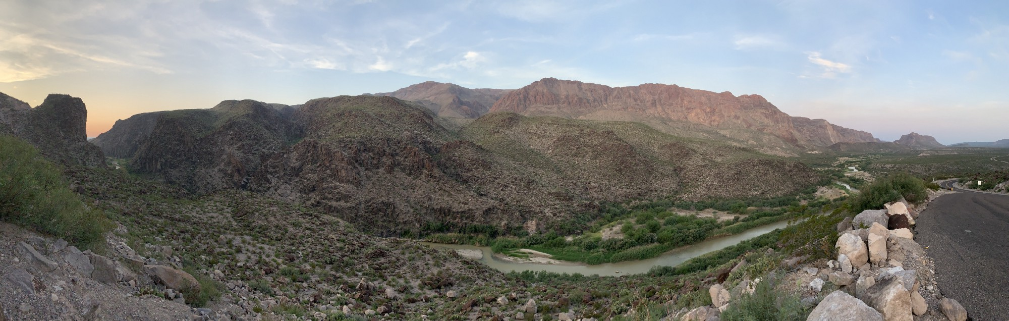 FM 170 on the border of US/Mexico