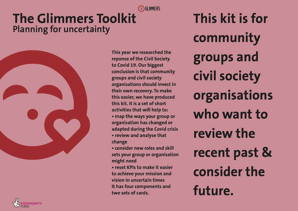 The front page of the Glimmers toolkit