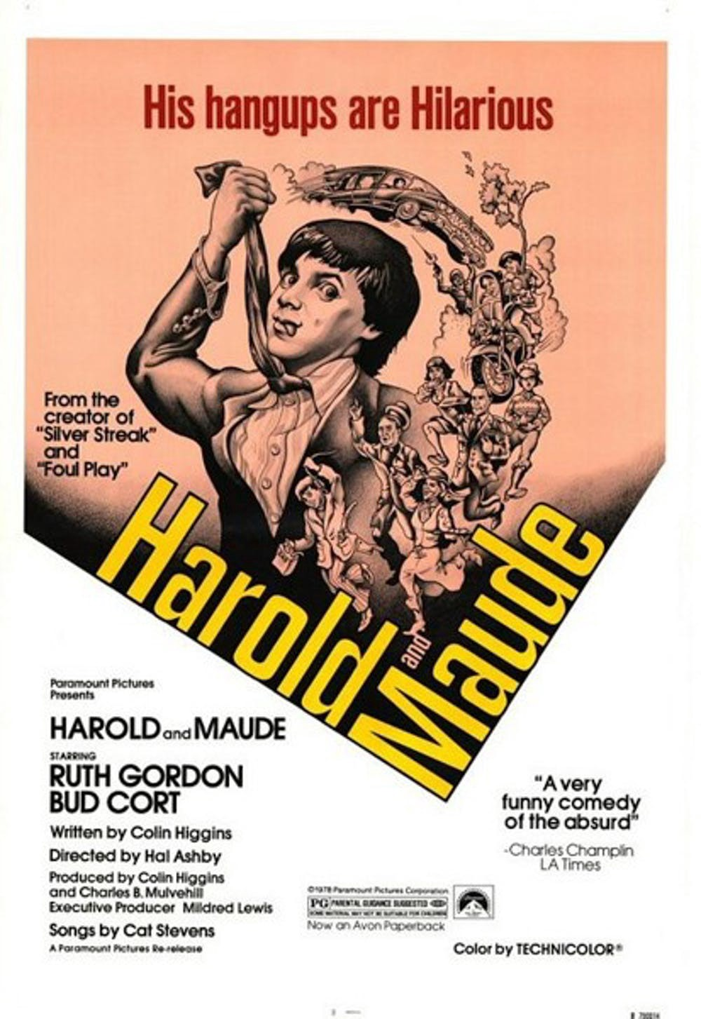 A poster for a re-release of Harold and Maude (1971)
