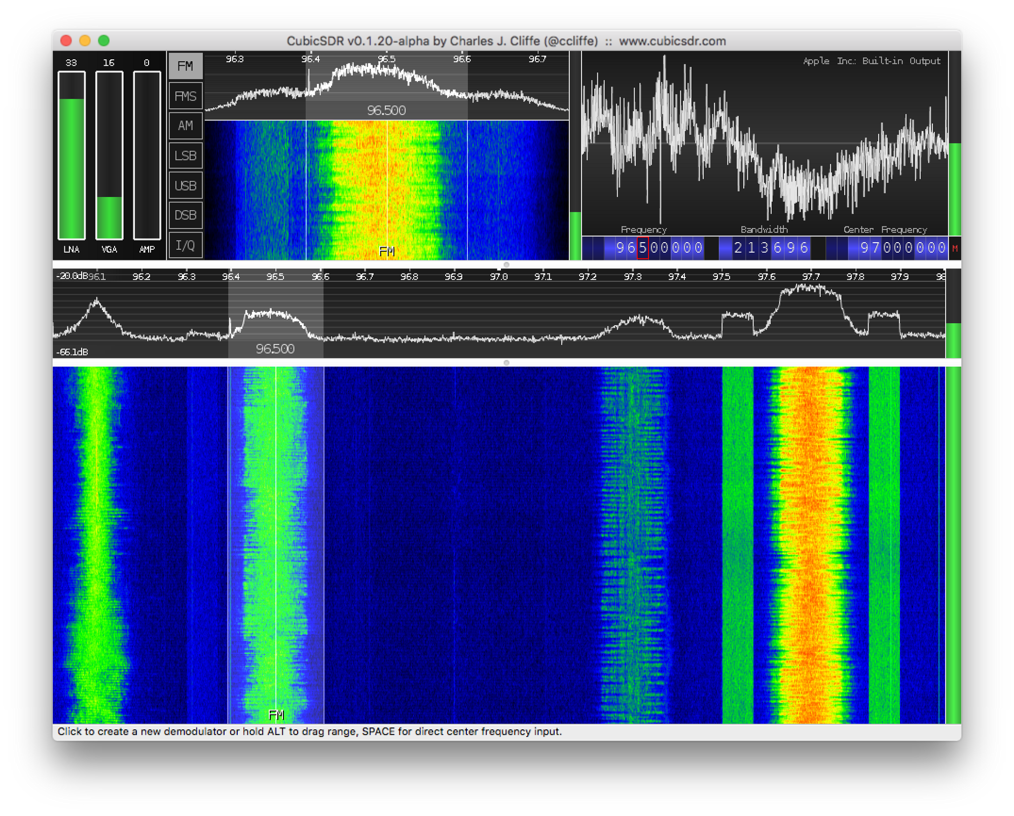 Finding interesting signals: heat maps and callsigns