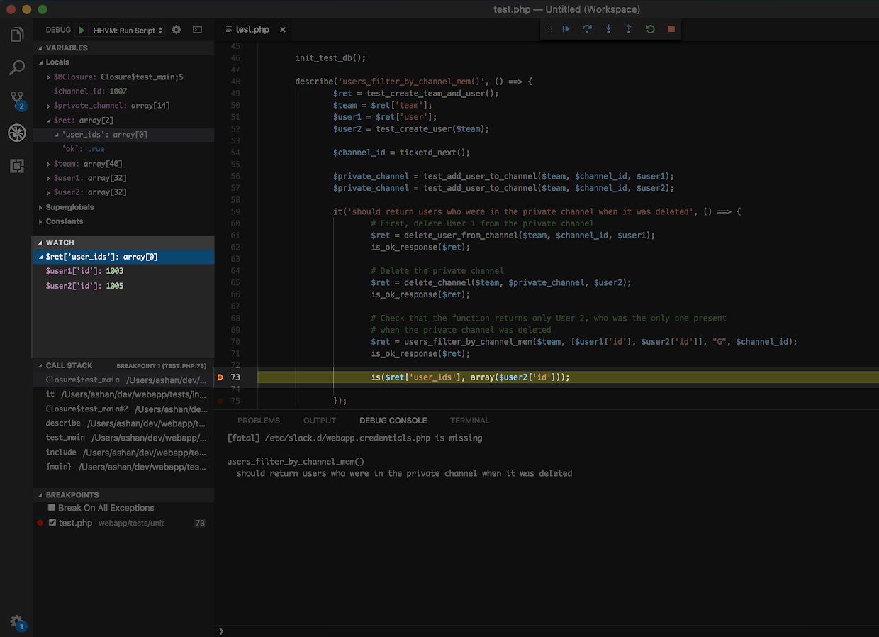 Streamlining Your Workflow: Debugging for HHVM - Several People Are