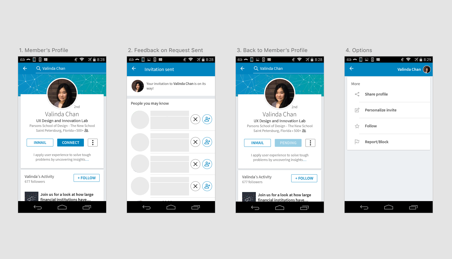 LinkedIn Invites: A Walkthrough of a User's Frustration and 4