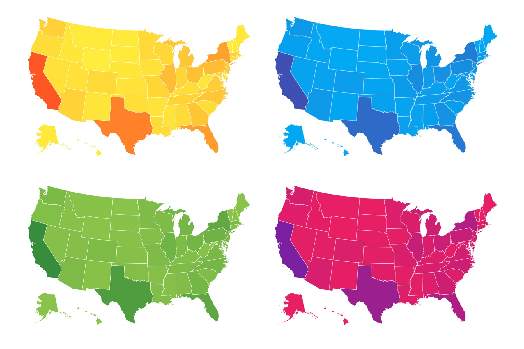 New Globe And Albers Usa Support In React Simple Maps V011 - Simple-map-of-us