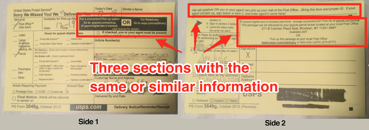I redesigned the USPS package delivery slip  - The Startup - Medium