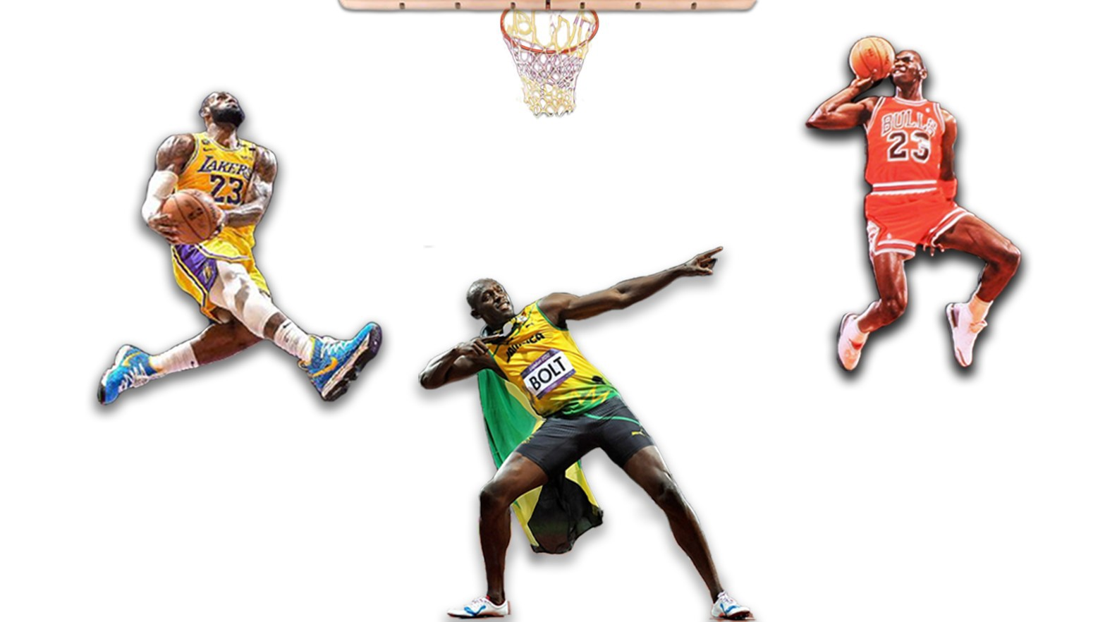Lebron James, Michael Jordan, Usain Bolt. Are athletes more athletic?
