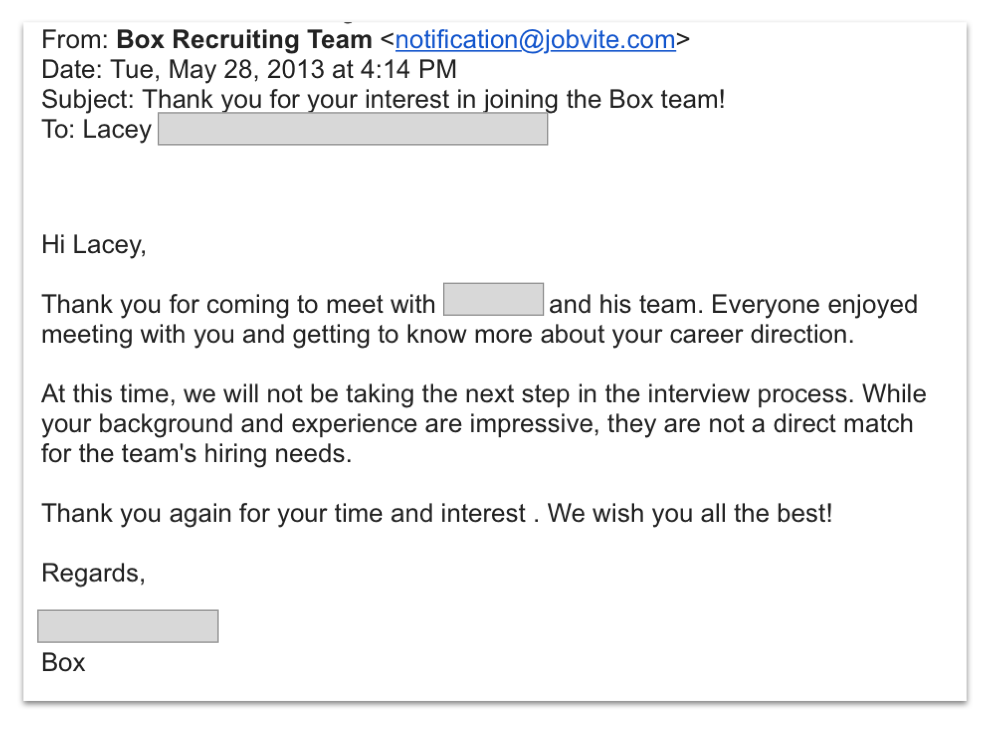 How to Get Out of the Rejection Downward Spiral in Your Tech