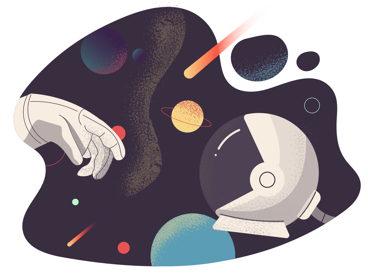 Exploring the space (Illustration by Icons 8 from Icons8)