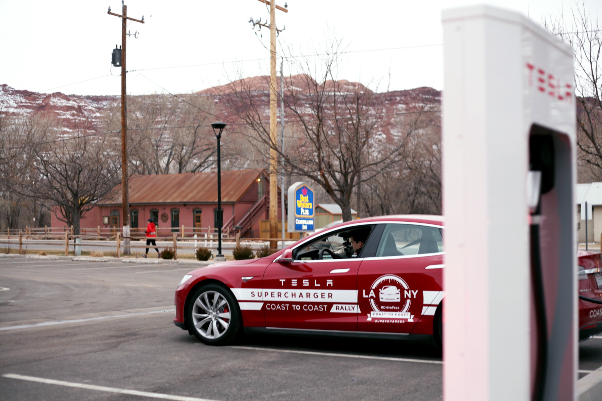 Tesla S Cross Country Rally Supercharger By Supercharger Medium