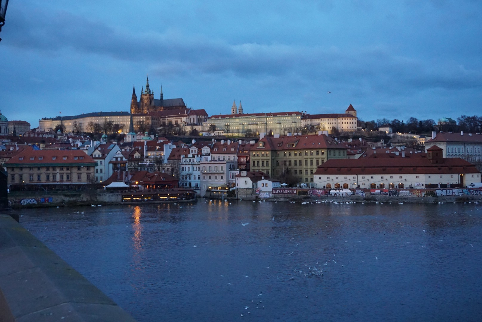 View of Prague's Castle Quarter from Charles Bridge