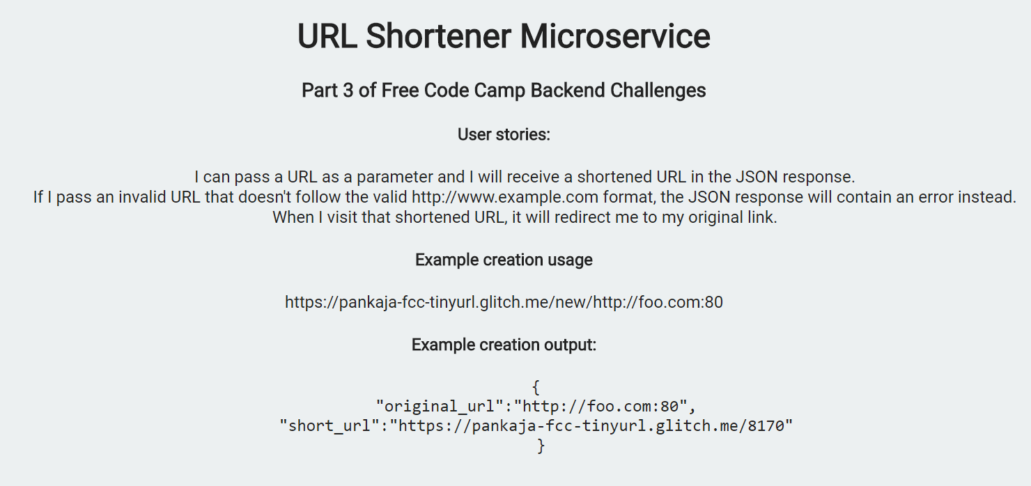 URL shortener microservice - Chingu - Medium