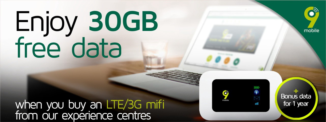 Enjoy exceptional browsing experience with 9mobile's 4G MiFi plus offer