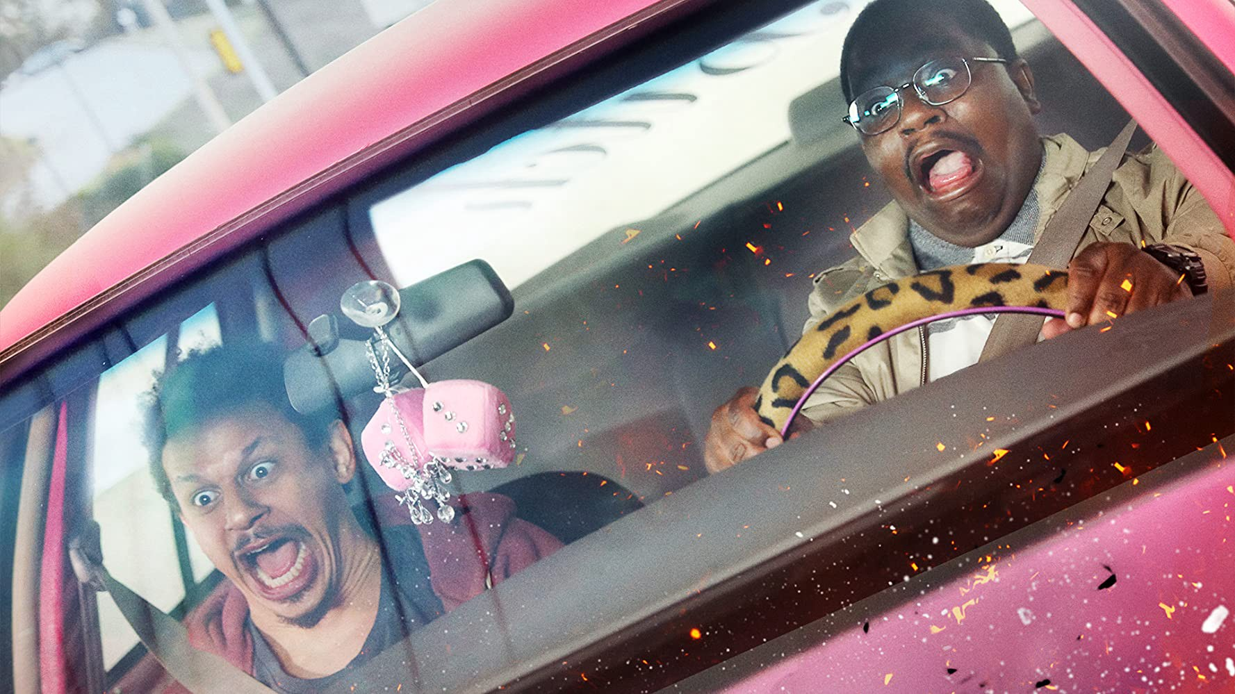 Eric André's Chris and Lil Rel Howery in 'Bad Trip'
