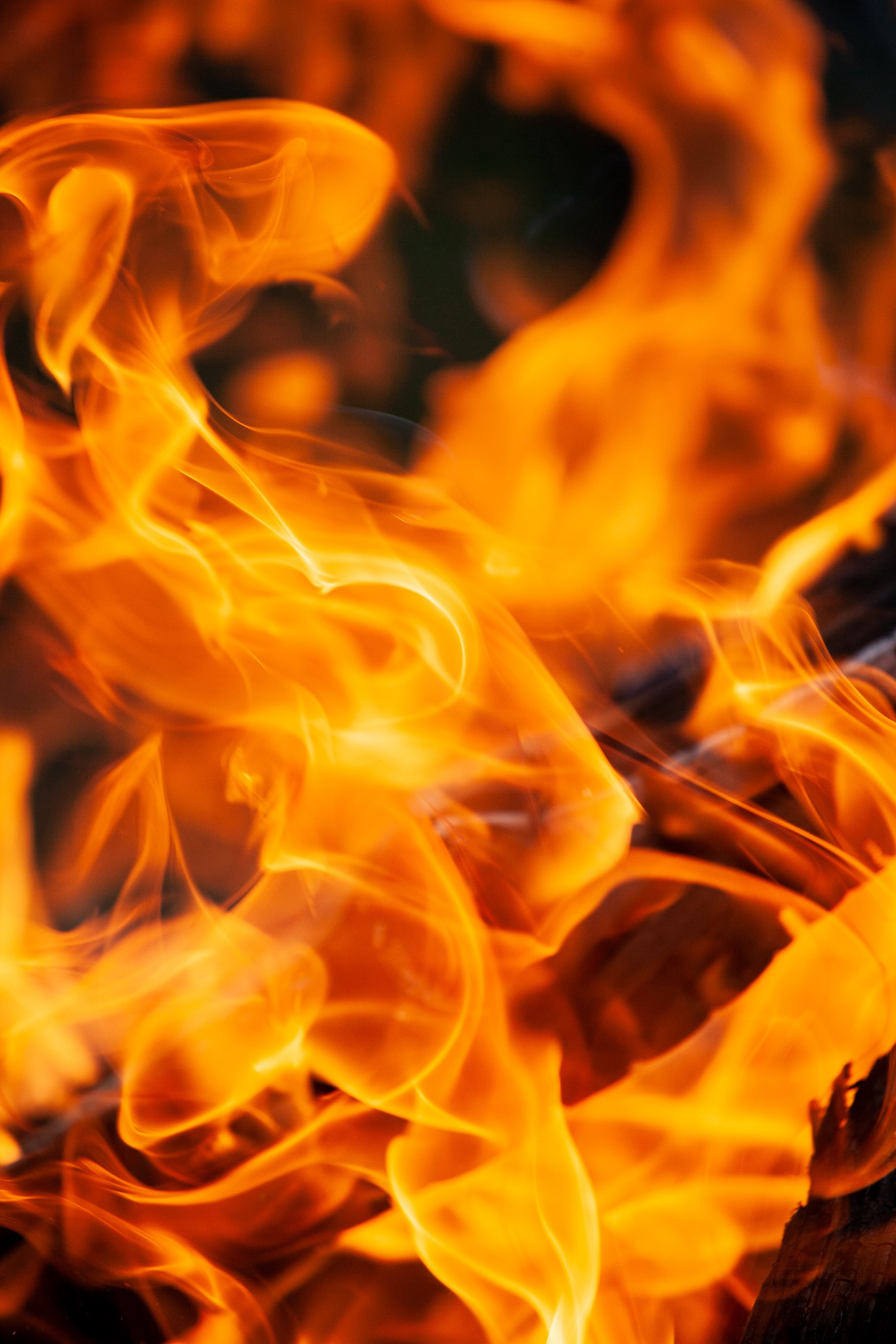 A close up picture of flames