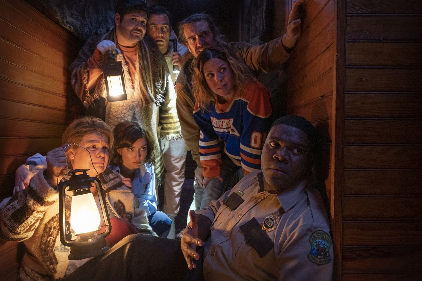 Sam Richardson and the cast of 'Werewolves Within'