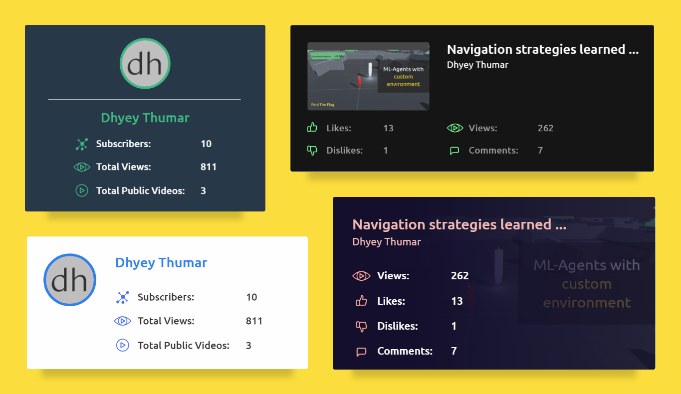 Youtube Stats Card