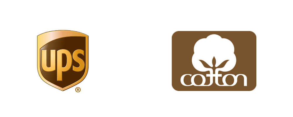Brands using 'Brown' as their main theme color