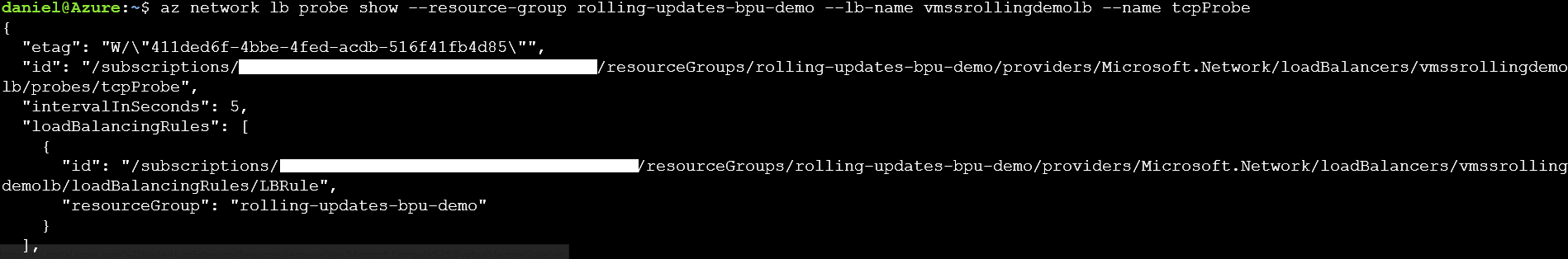 Updating Azure VM Scale Set without downtime with Rolling Updates