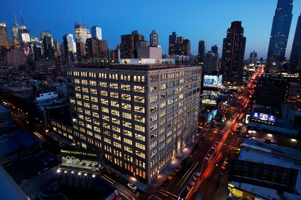 Ariel view of Ogilvy headquarters—The Chocolate Factory in NYC.