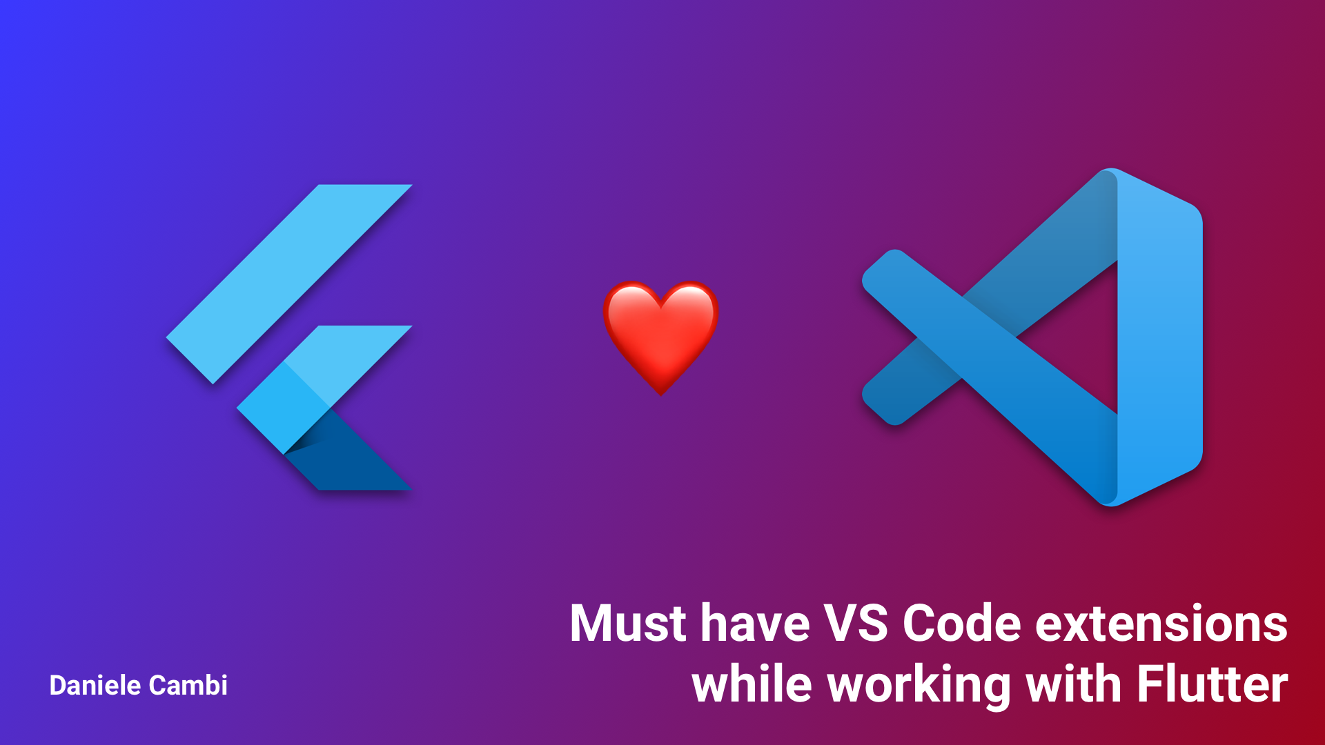Must-have VS Code extensions for working with Flutter