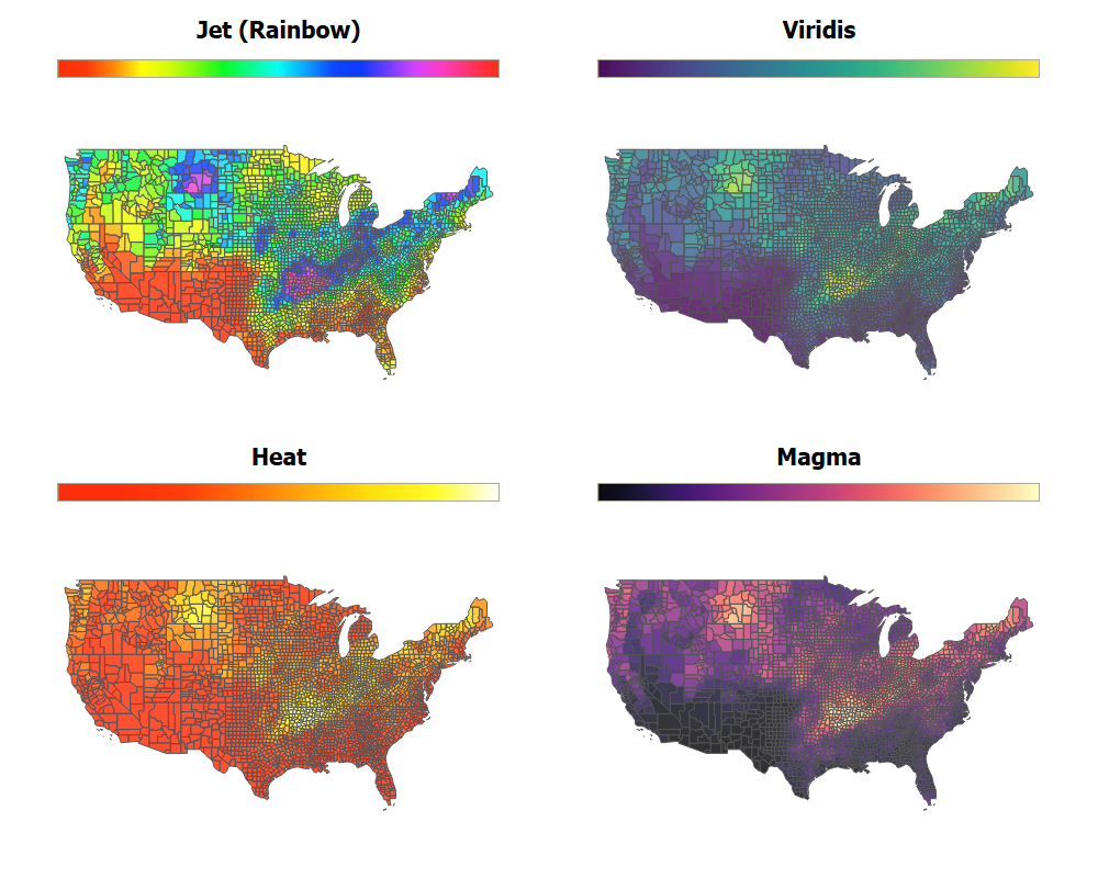 Ways to Improve a Map Visualization - Towards Data Science Data Map Visualization on