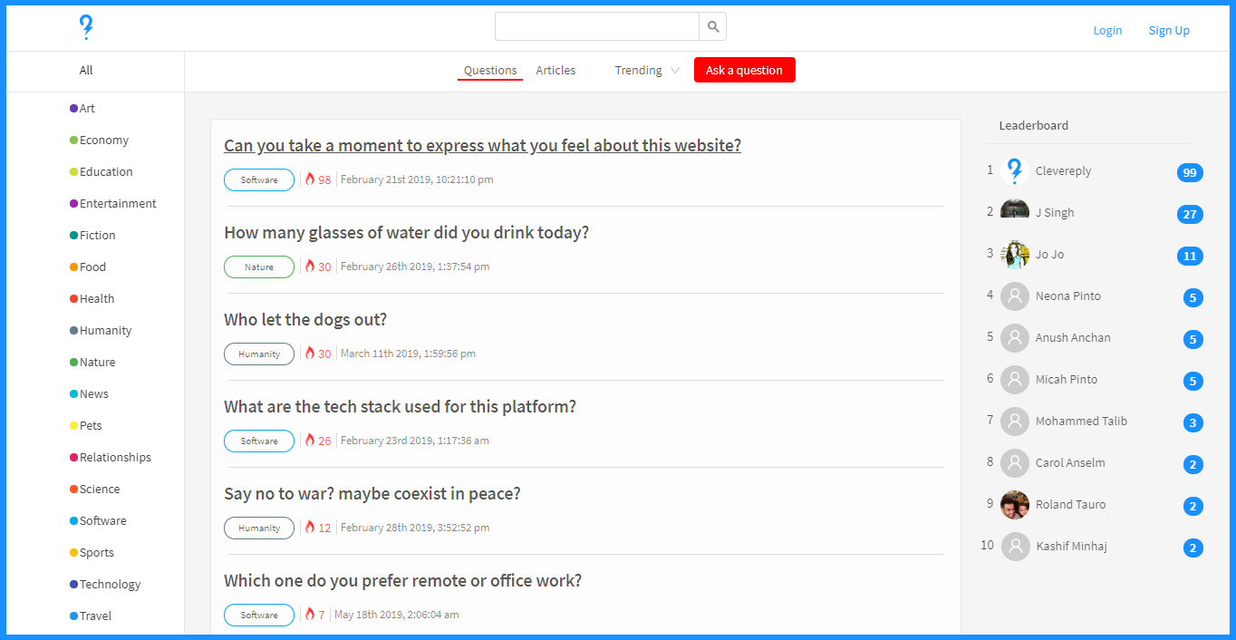 How I single-handedly built a fully featured question & answer web