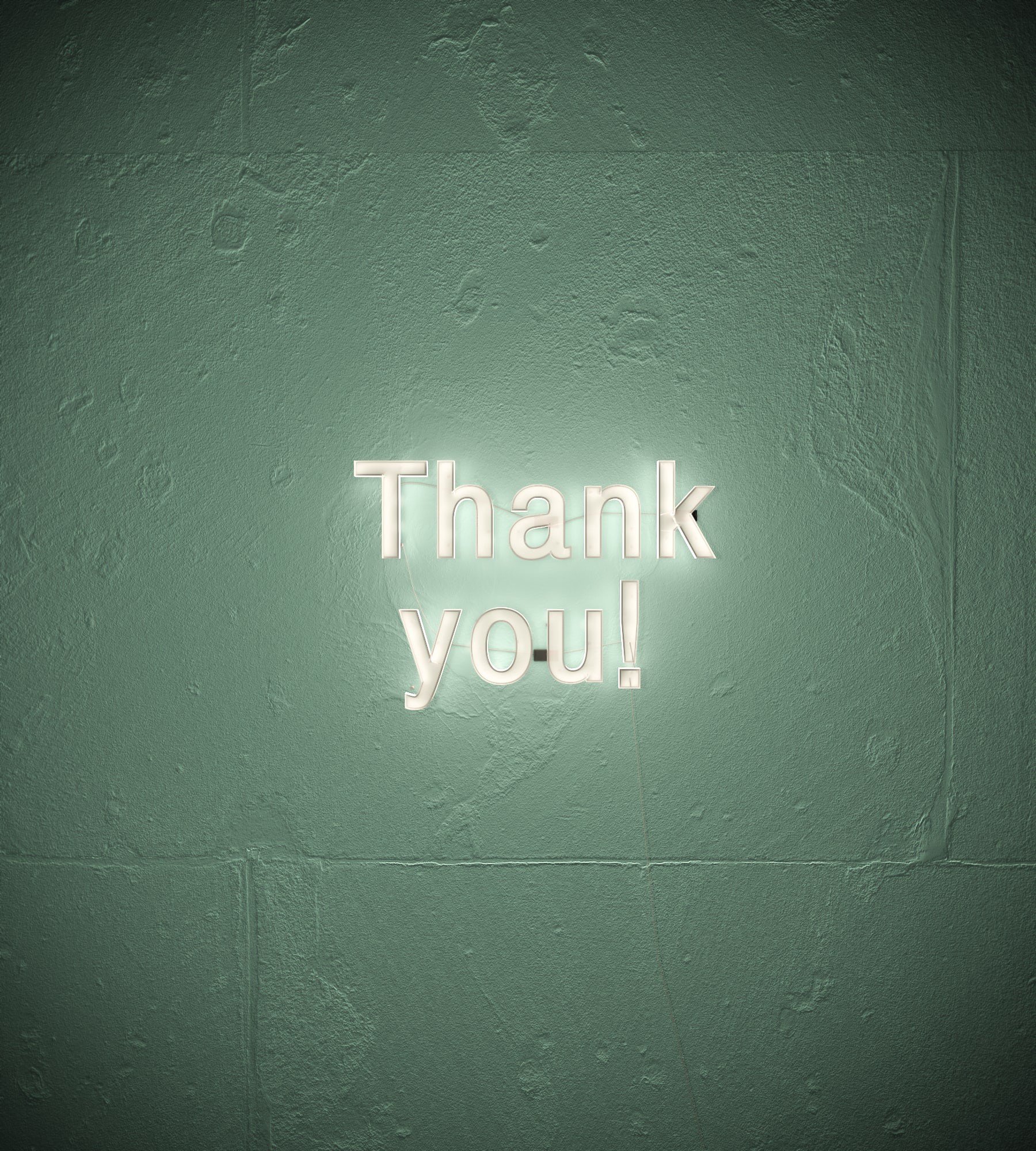 The words thank you brightly diaplayed on a dark background.
