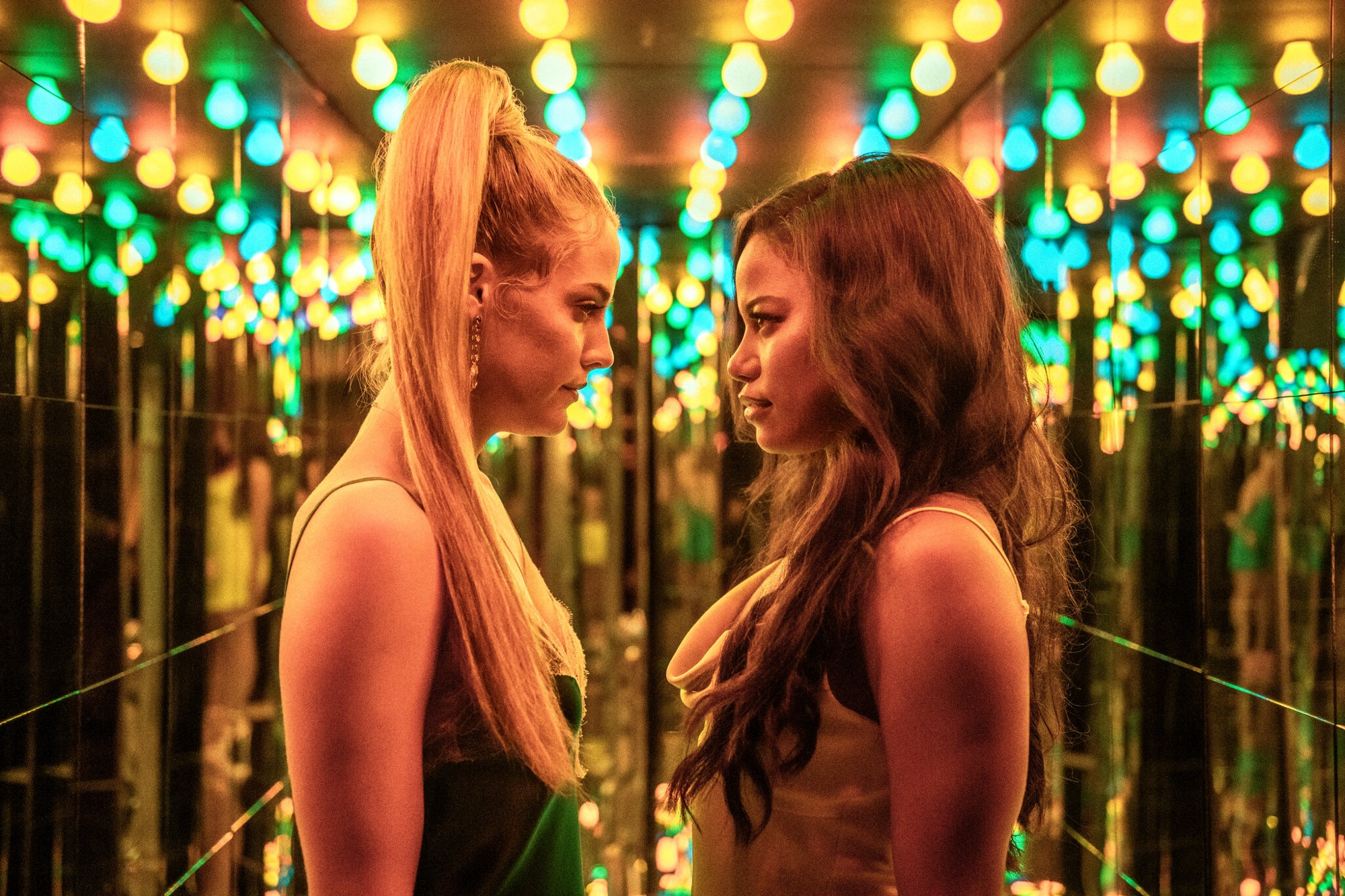 Taylour Paige and Riley Keough in 'Zola'