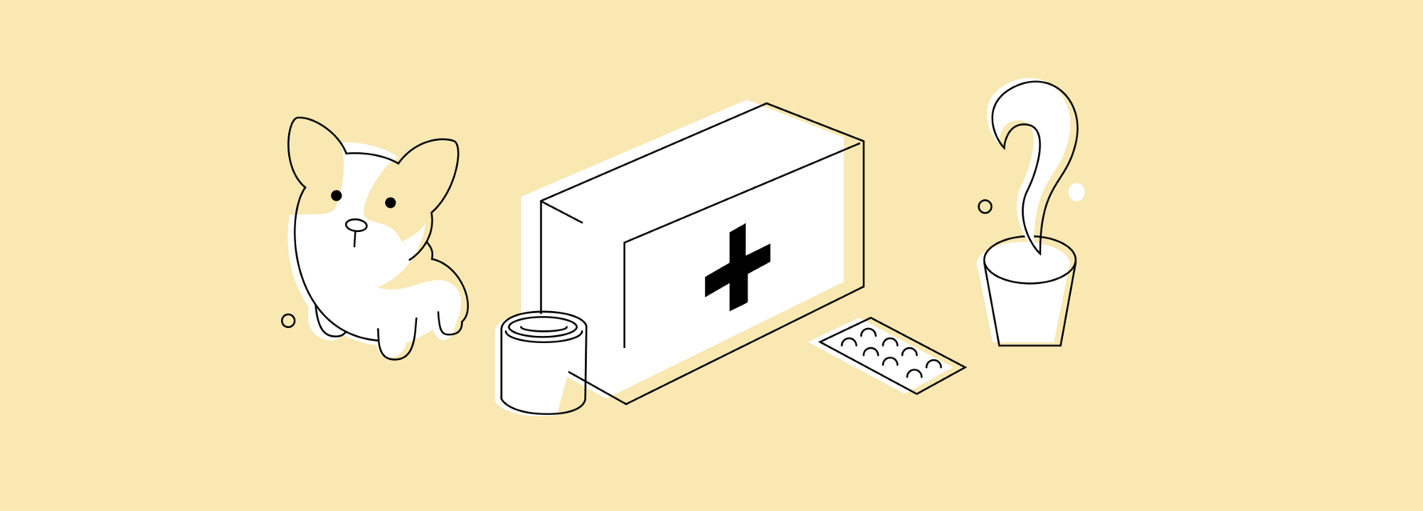 Cover image showing an illustration of a first aid kit
